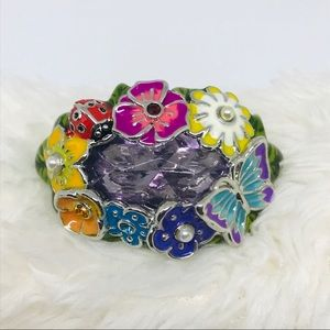 Avon Textured Flowers Double Ring